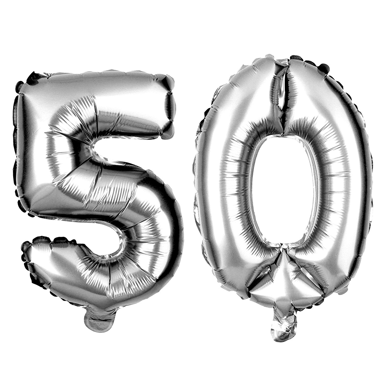 non-floating 50 number balloons 50th birthday party decorations small 13 inch (pink)