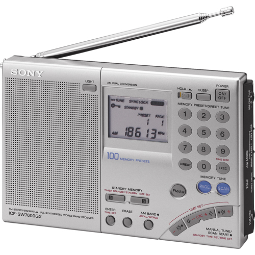 Sony ICFSW7600GR FM Stereo World Band Radio