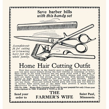 Small ad from inside a magazine to save barber bills with this handy set Poster Print by (Insider Magazine)
