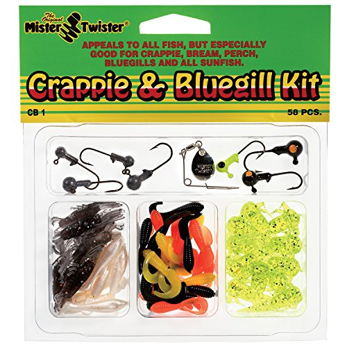 Mister Twister Crappie and Bluegill Kit, 57 Pieces