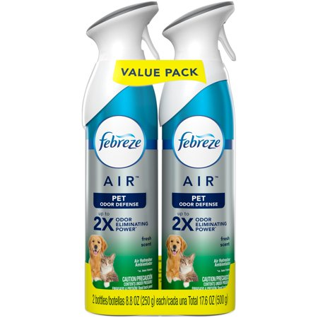 Febreze AIR Effects Heavy Duty Pet Freshener Spray 8.8oz, Pack of 2