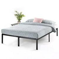 Best Price Mattress Queen Bed Frame 14 Inch Metal Platform Beds w/ Heavy Duty Steel Slat Mattress Foundation, Black - Durable