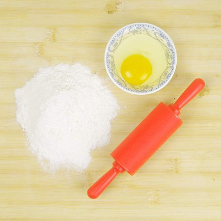 Non-stick Silicone & Plastic Rolling Pin Dough Wooden Roller Pastry Kitchen -