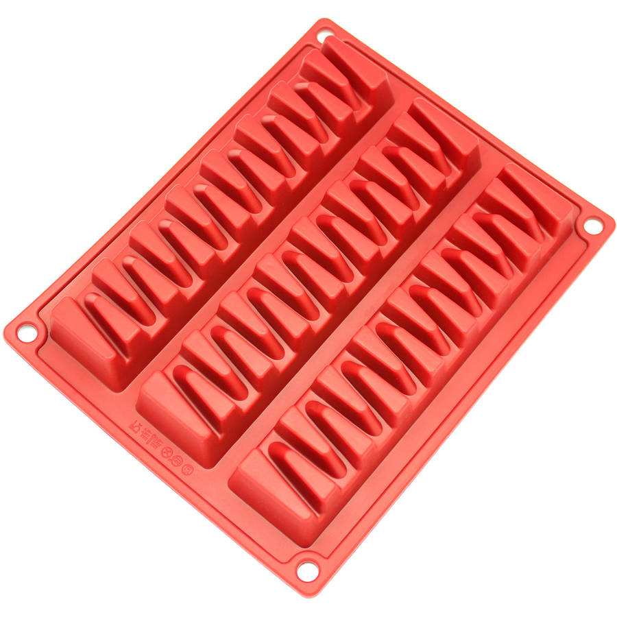 Click here to buy Freshware 3-Cavity Zig Zag Silicone Mold for Break-Apart Chocolate, Protein and Energy Bar, CB-800RD by Overstock.