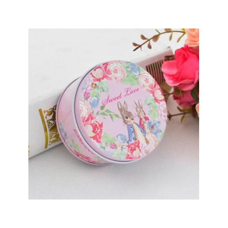 Topumt Round Irrigation Box For Party Small Gift Wedding Favors Candy Jewelry Packing Metal Tin Box Valentines Day Birthday Gift - Valentine Day Box Ideas