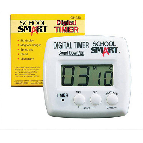 "School Smart Digital Timer, 2.75"" x 2.75"""
