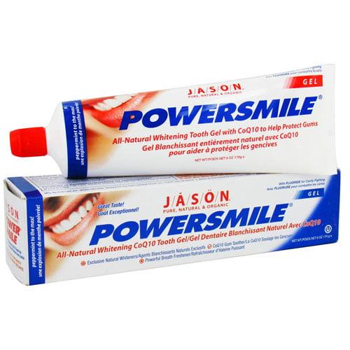 Jason Toothpaste, with Fluoride Anti-Cavity & Whitening, Powerful Peppermint, Gel