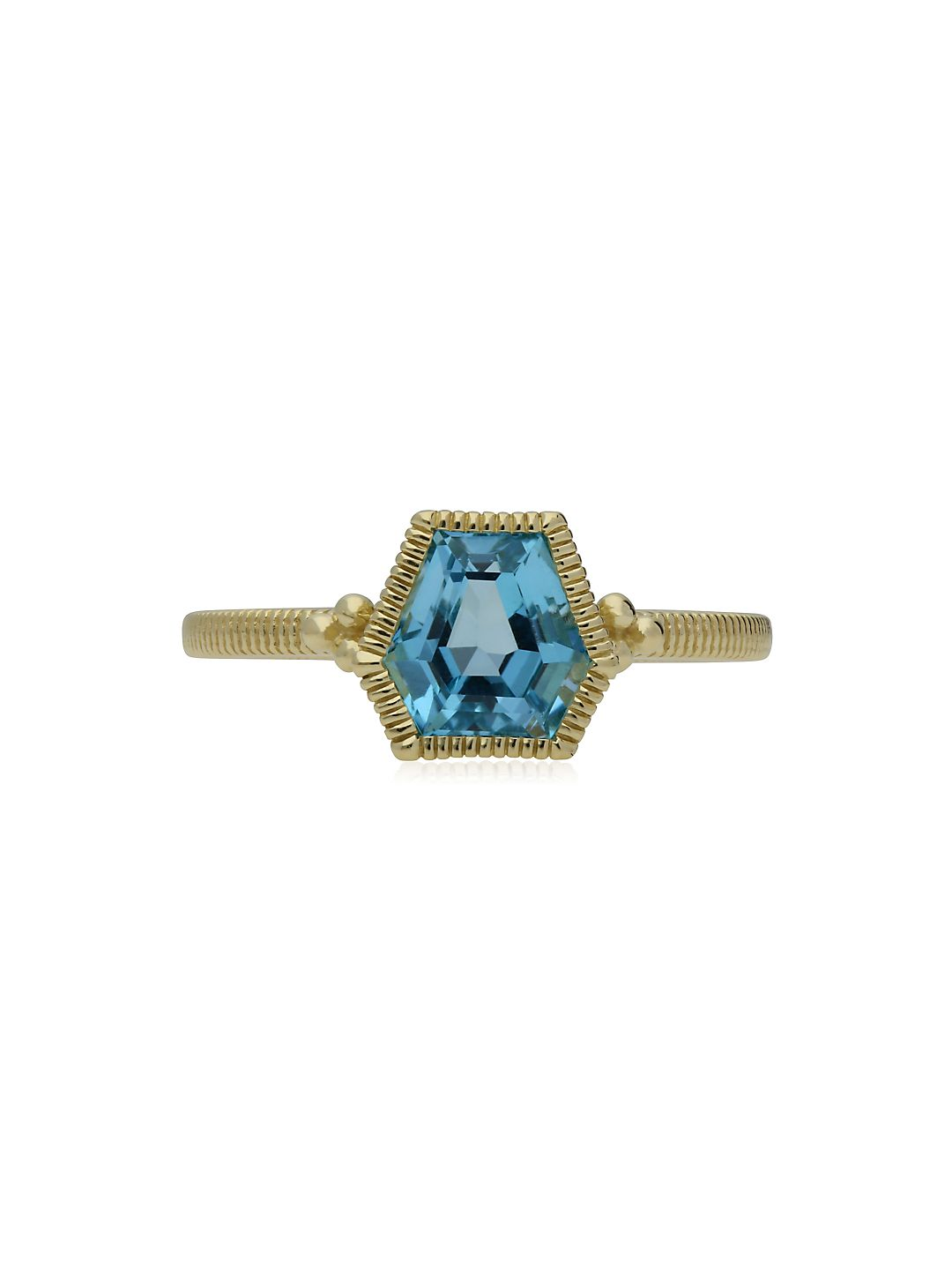 Boca Swiss Blue Topaz and 14K Yellow Gold Stack Ring