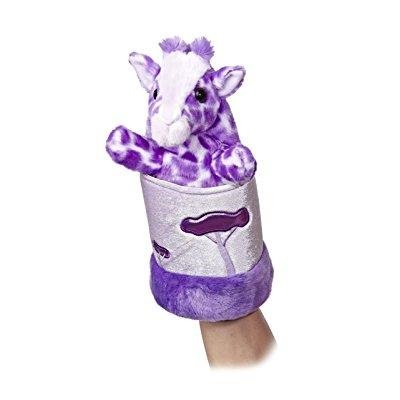 Aurora World Pop-Up Purple Giraffe Plush Puppet, 11