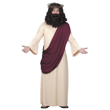 Halloween Adult Jesus with Wig and Beard Set - Anime Guy With Beard