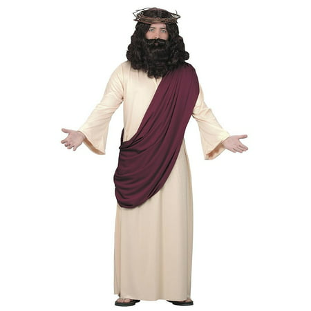 Halloween Adult Jesus with Wig and Beard Set (Brown Hair Wig Halloween)