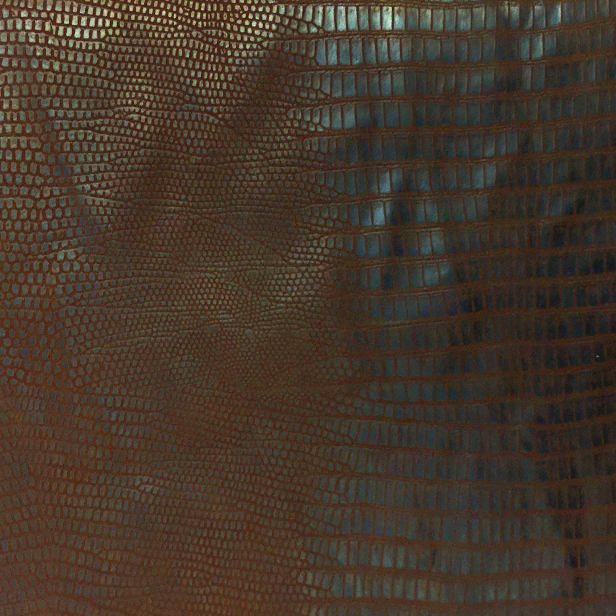 SHASON TEXTILE FAUX LEATHER ALLIGATOR PRINT UPHOLSTERY FABRIC, BROWN