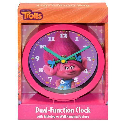 "Dreamworks Trolls 6"" Dual Function Desk Clock 6\ by"