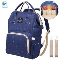 Deago Unique Floral Printed Diaper Nappy Backpack Multifunction Waterproof Travel Bag, Large Capacity, Mommy Baby Care Backpack