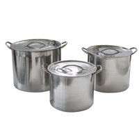 AmeriHome 6 Piece Stainless Steel Stock Pot Set