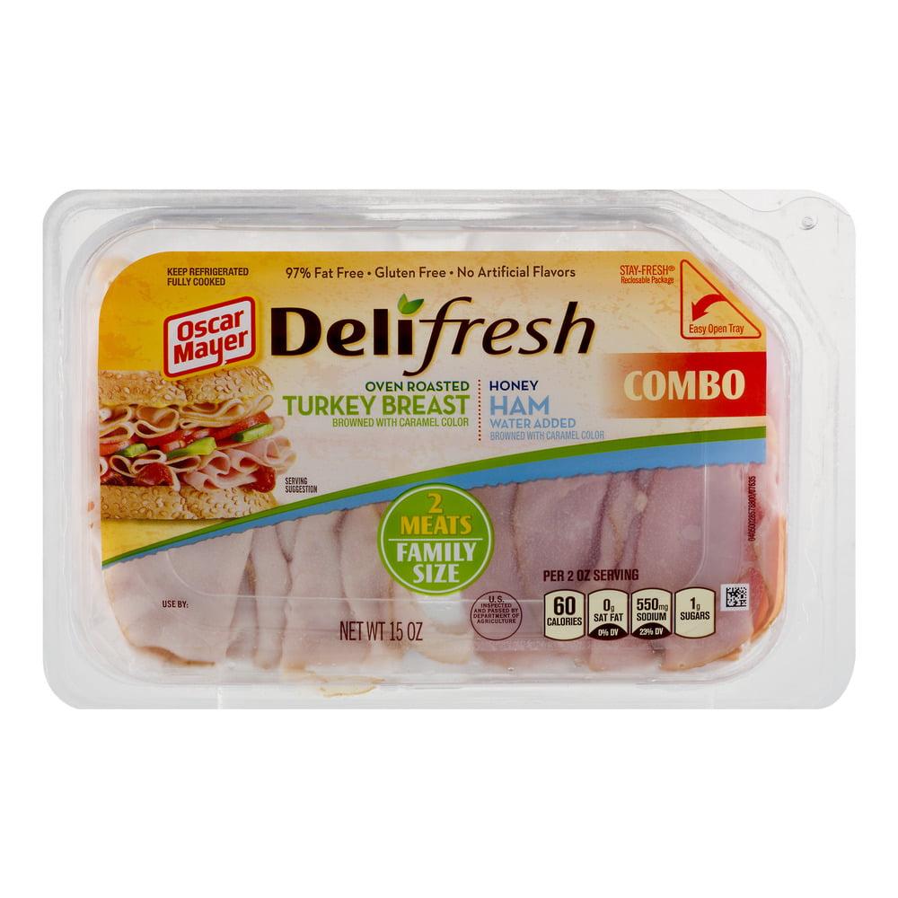 Oscar Mayer Delifresh Combo Oven Roasted Turkey Breat and Honey Ham, 15.0 OZ by Kraft Foods, Inc.
