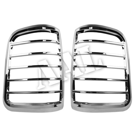 AAL Premium Chrome LIGHTS BEZEL Cover For 2004 2005 2006 2007 2008 FORD F-150 F150 TAIL LIGHT (Flareside Chrome Tail Light Cover)