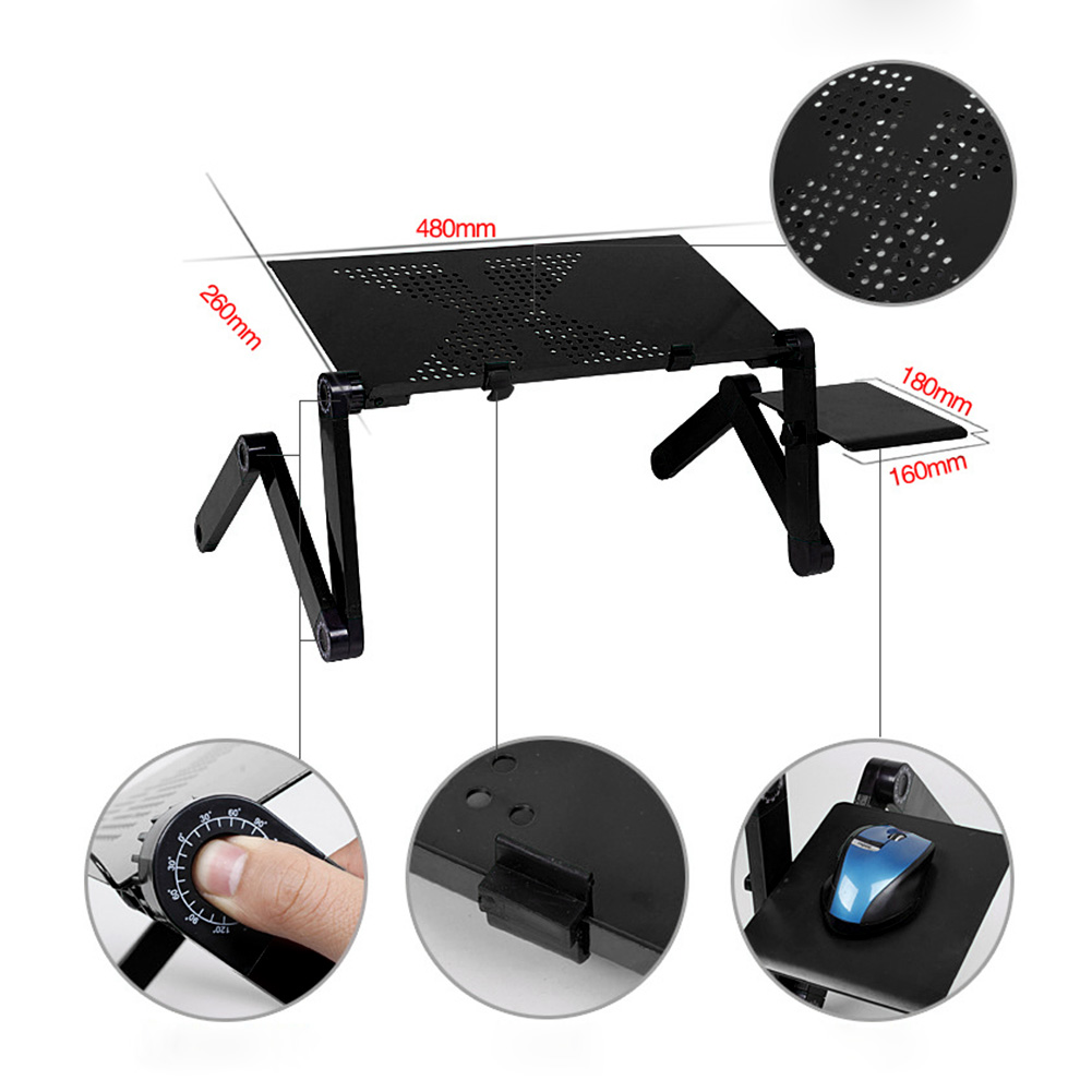 Adjustable Portable Laptop Table Desk Stand Lap Sofa Bed