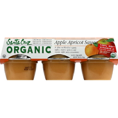 Santa Cruz Apple Apricot Sauce, 6ct (Pack of 12)