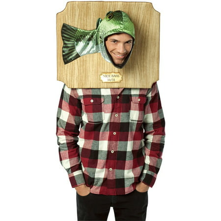 Trophy Head Bass Adult Halloween Costume - One Size - Falling Head Costume