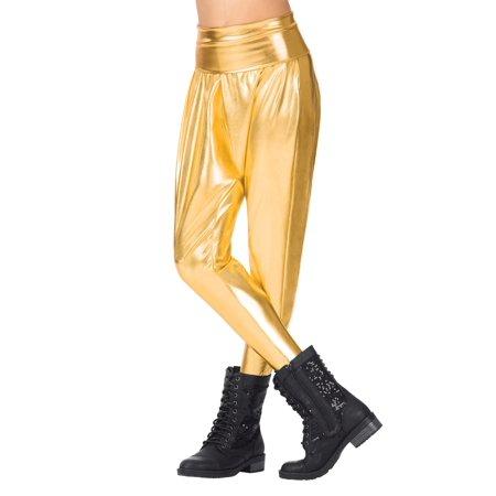 Girls Metallic Harem Pants - Arab Harem Girls