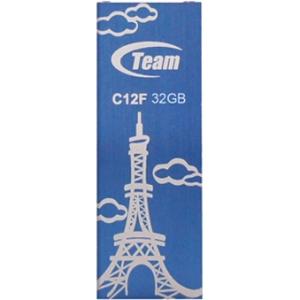 32GB Team C12F Bookmark USB2.0 Flash Drive (Eiffel Tower) Blue by Team
