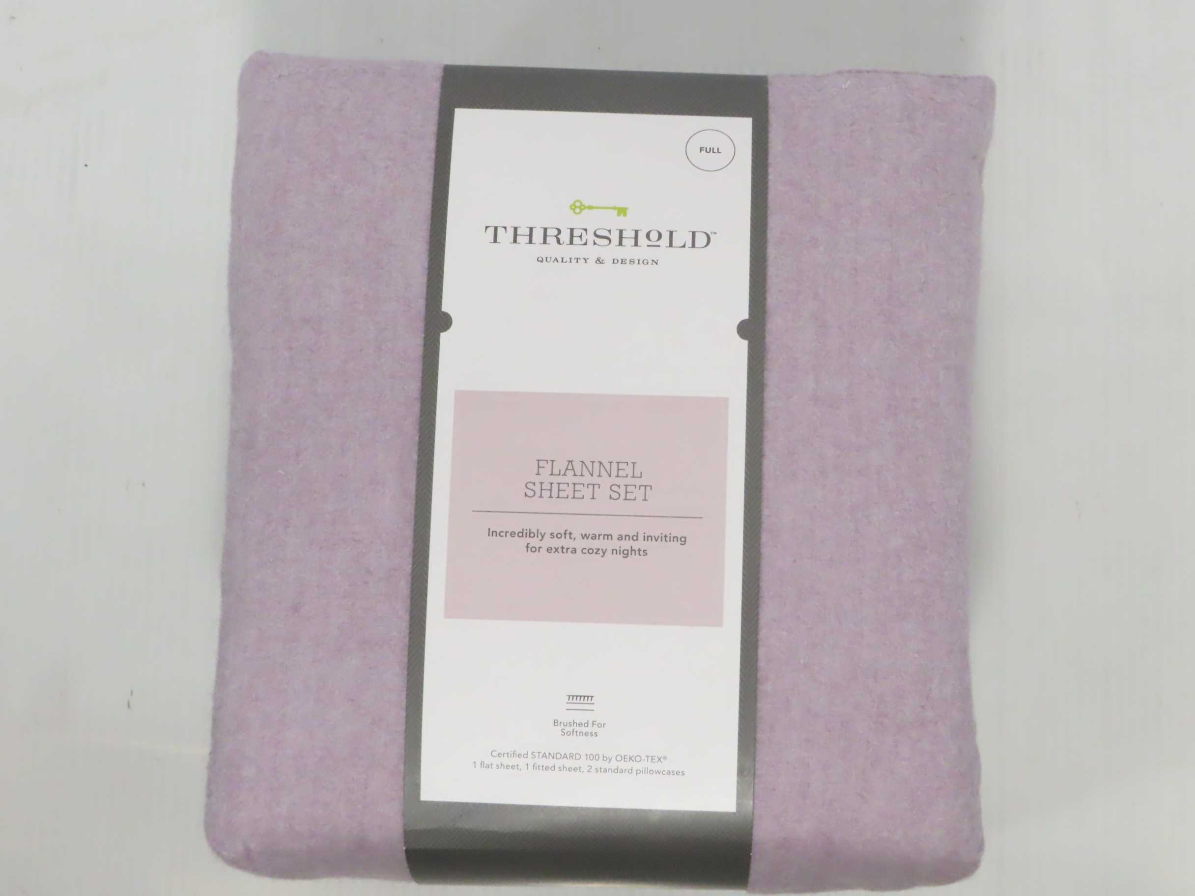 Solid Flannel Sheet Set - Threshold - FULL