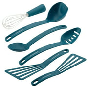 Rachael Ray 6-Piece Tools and Gadgets Nylon Nonstick Tools Set, Marine Blue