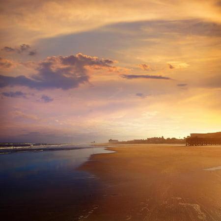 Atlantic Beach in Jacksonville East of Florida Print Wall Art By