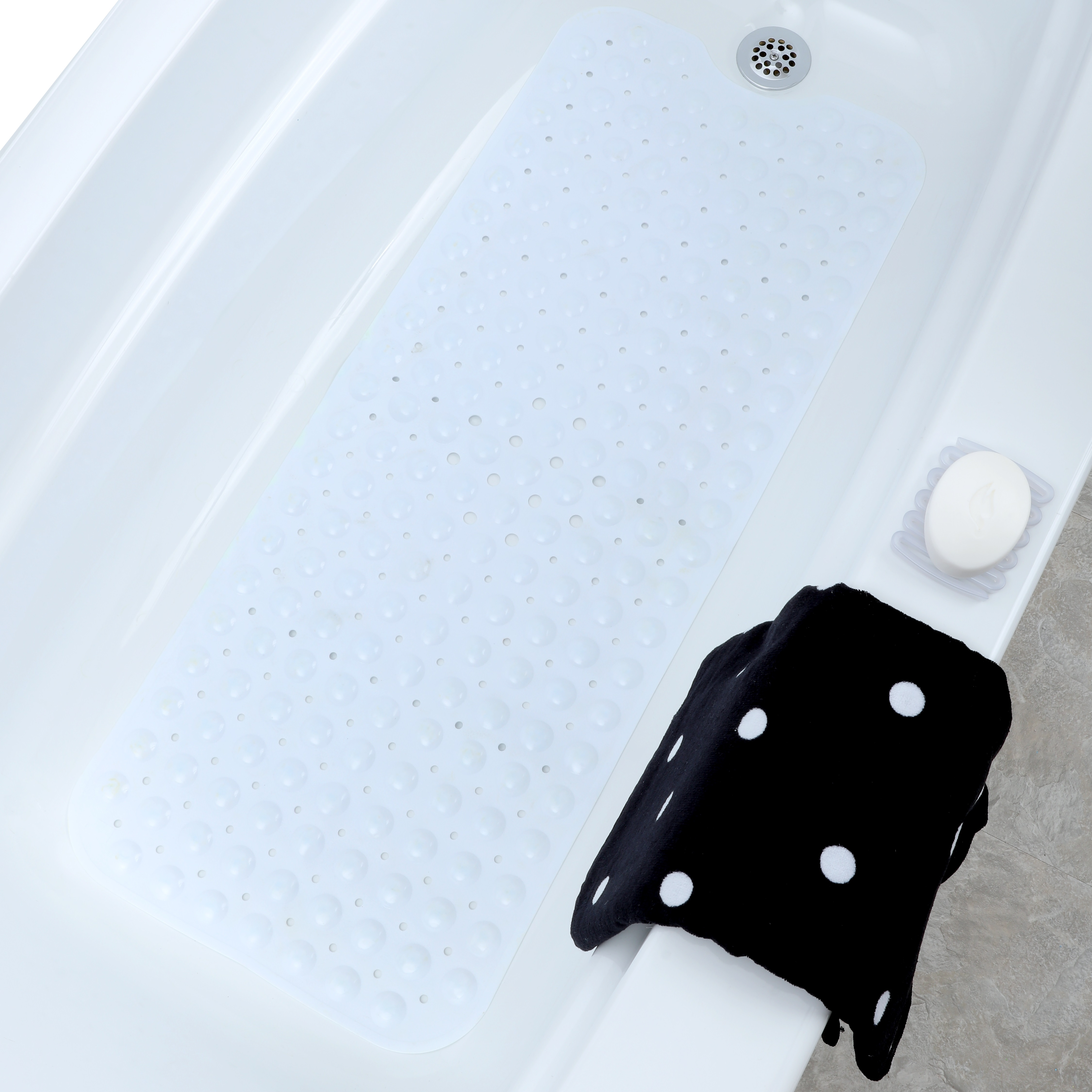 SlipX Solutions Extra-Long Vinyl Bath Mat