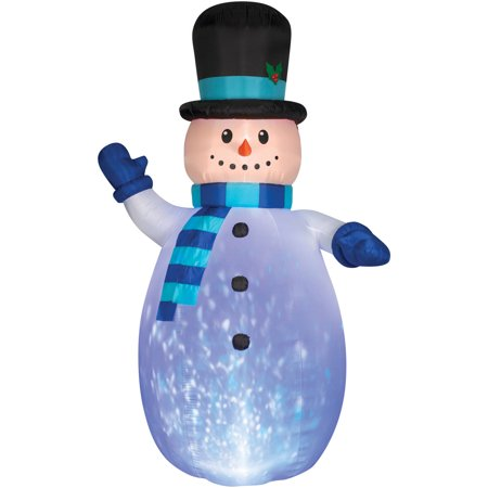 Snowman Projection Airblown Halloween Inflatable - Halloween Shadow Projection