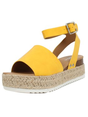 42f2e94e7 Free shipping on orders over $35. Free pickup. Product Image Soda Women's  Open Toe Halter Ankle Strap Espadrille Sandal