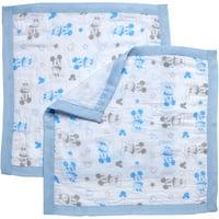 Disney Muslin Security Blankets, 2 pk