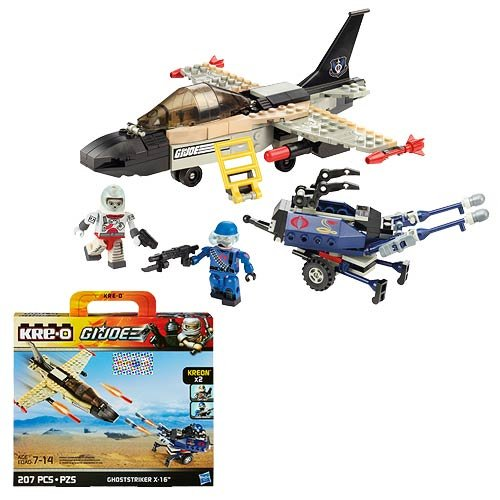 Kre-O, G.I. Joe, Ghoststriker X-16, Save the day with the Kre-O G.I. Joe Ghoststriker X-16 Set! Includes 2 Kreon mini-figures. By Hasbro Ship from US