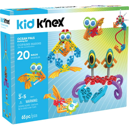 KID K'NEX - Ocean Pals Building Set - 65 Pieces - Ages 3 and Up Preschool Educational Toy (Preschool Educational Toys)