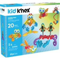 KID K'NEX - Ocean Pals Building Set - 65 Pieces - Ages 3 and Up Preschool Educational Toy