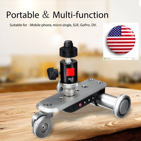 Chargeable Electric Motorized Pulley Car Video Dolly Track Slider Rolling Camera for MobilePhone, Micro Single,