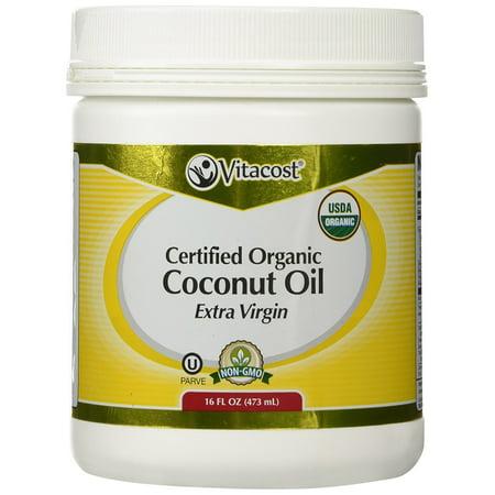 Vitacost Extra Virgin Certified Organic Coconut Oil    16 Fl Oz  Made From Certified Organic Coconuts By Vitacost Brand