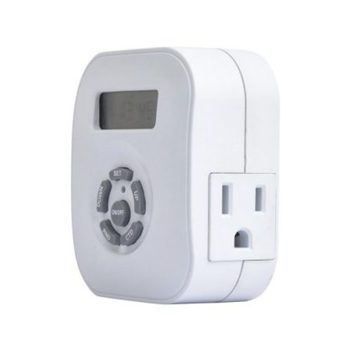 westek te1606whb weekly digital round timer, duel grounded outlet
