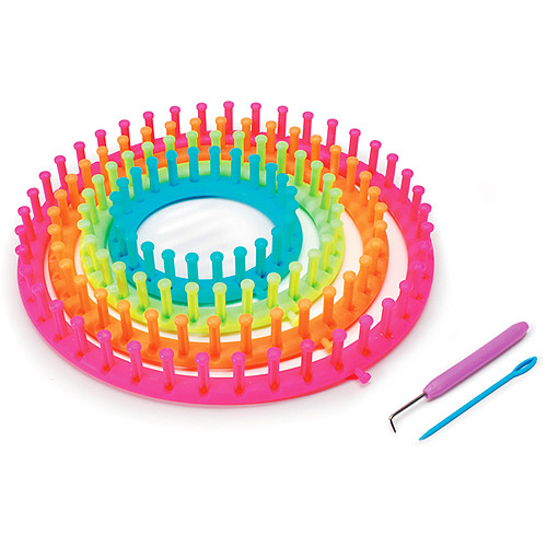 Darice Easy Knitting Round-Loom Set, Neon