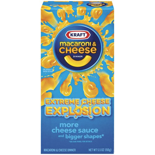 Kraft Dinners Extreme Cheese Explosion Macaroni & Cheese Dinner, 5.5 oz