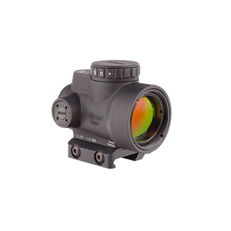 Trijicon 1x25mm MRO 2.0 MOA Red Dot Sight & Low Mount Black -