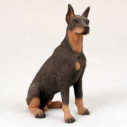 Doberman Figurine Red