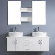 VIRTU USA  Enya 59-inch White Double Sink White Vanity Set