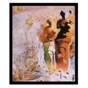 BuyArtForLess Hallucinogenic Toreador Bullfighting Poster Framed Wall Art by Salvador Dali