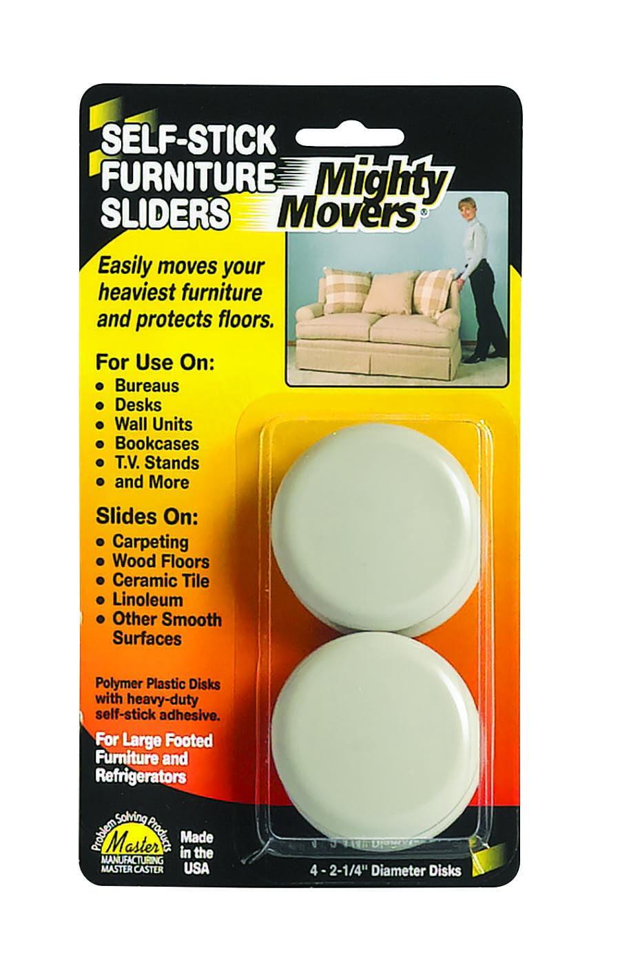 Furniture Sliders, Self-adhesive, Beige, 4/Pack - Walmart.com