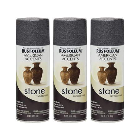 (3 Pack) Rust-Oleum American Accents Stone Spray,