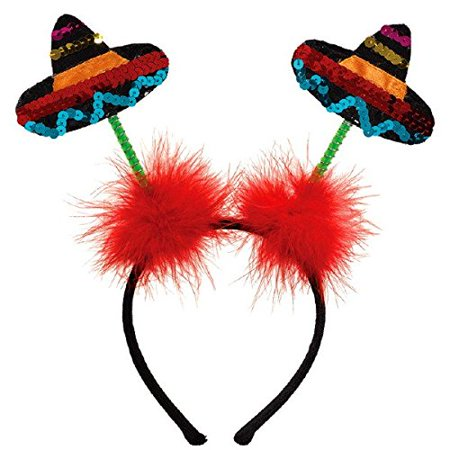 Cinco De Mayo Fiesta Party Sombrero Headboppers Accessories, Plastic, 11
