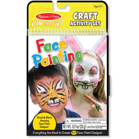 Melissa & Doug On the Go Face Painting Craft Activity Set - 35+ Designs - Face Painting Glow In The Dark