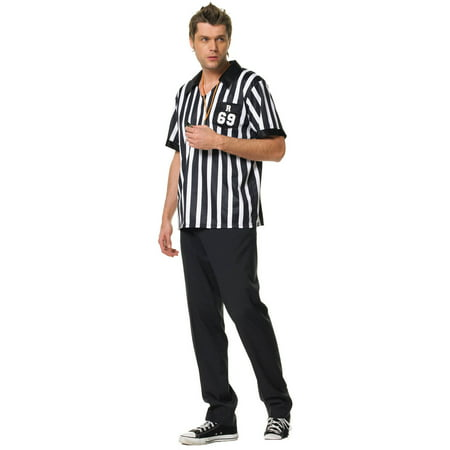 Leg Avenue Men's 2 Piece Referee Costume, Black/White, X-Large (Leg Avenue Referee Costume)